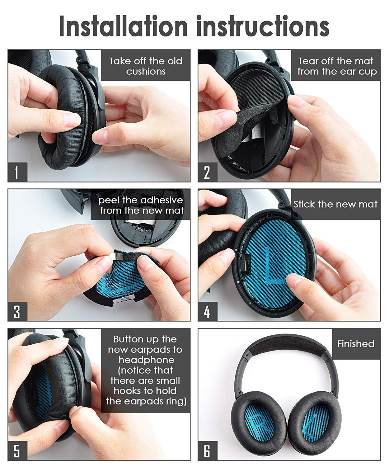 Over-Ear Premium Bose QuietComfort35 ii QC 35 Headphones Replacement Ear Pads Cushion by GEVO,Memory Foam Pads Enhance Noise Isolation /&Black Also Fit with SoundTrue AE 2(Over-Ear)//SoundLink AE 2