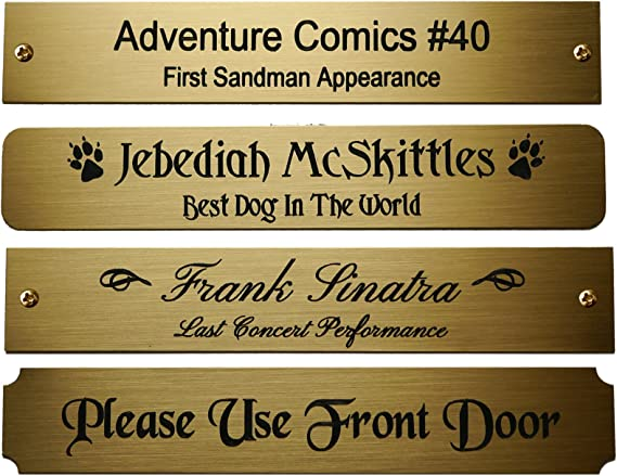 Plate Engraved Box letters custom door 2 from 4 to format 50 x 90 MM