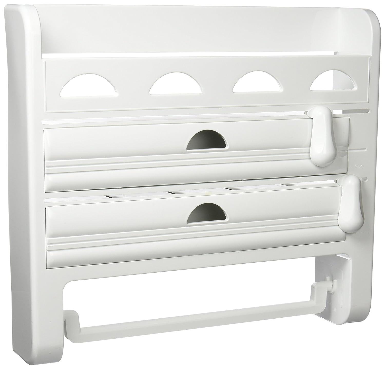 Porta rollos de cocina triple de pared aluminio film papel - Portarrollos papel cocina ...