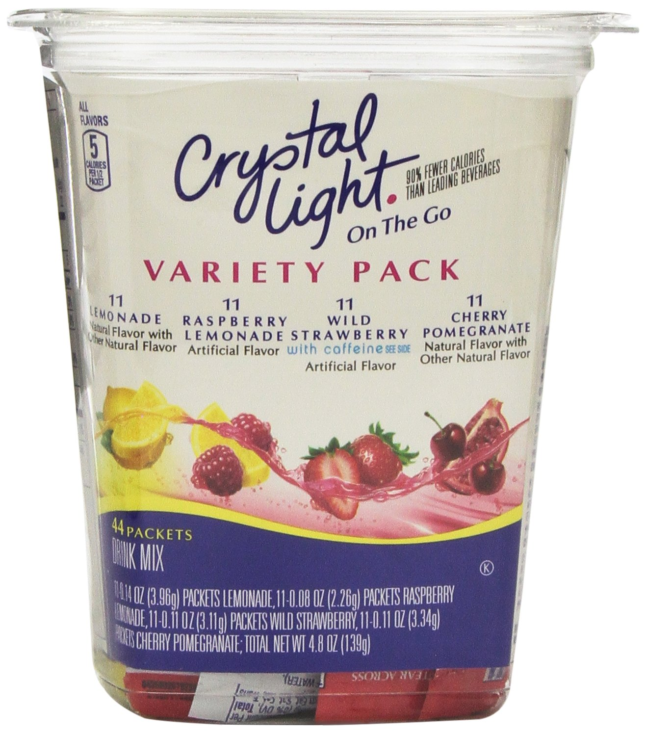 Crystal Light on the Go Variety Pack - 44ct Plastic Tub (Pack of 2)