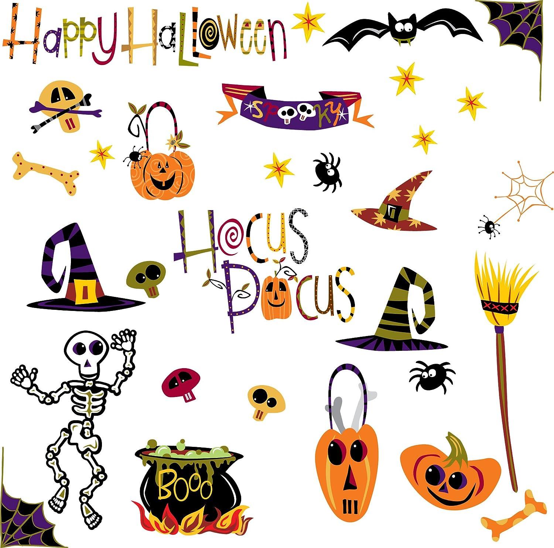 Boo Happy Halloween Hocus Pocus Cartoon Images decal stickers