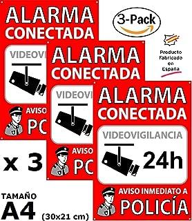 Cartel de Alarma Conectada de PVC expandido de 3mm A4 ...