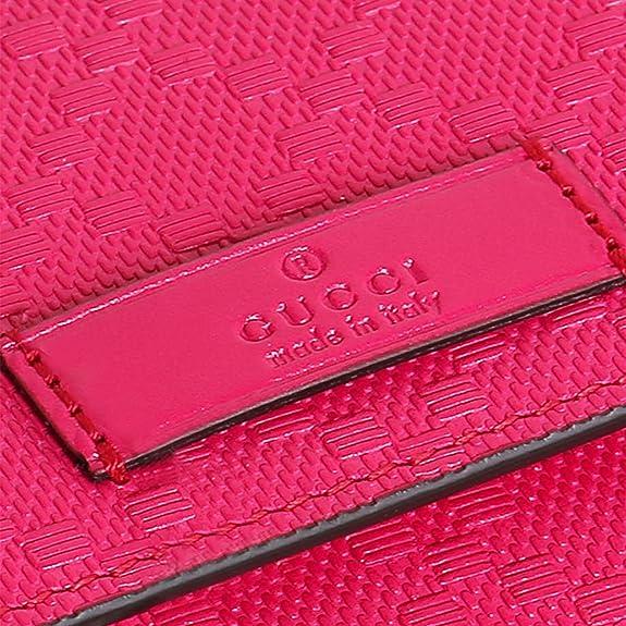 Gucci 354486 - Cartera para hombre de Piel Mujer rosa hot pink Large: Amazon.es: Zapatos y complementos