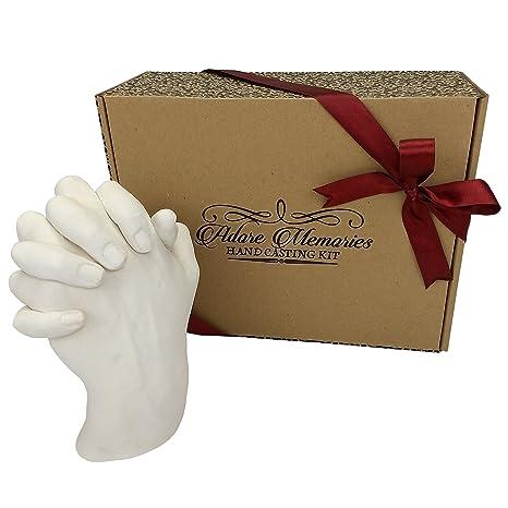 Adore Memories - Kit para hacer moldes de manos entrelazadas, regalo de aniversario, cumpleaños