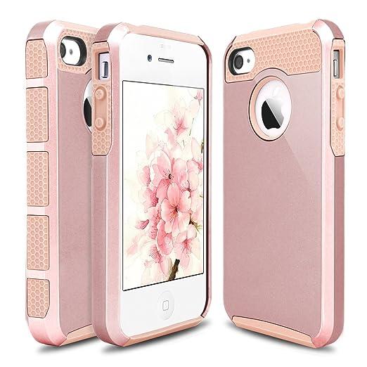 3 opinioni per iPhone 4S custodia, cover per iphone 4s, Hinpia a doppio strato antiurto per