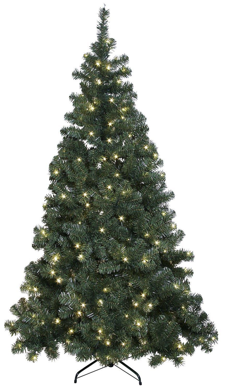 """LED-Weihnachtsbaum """"""""Ottawa"""""""", beleuchtet, indoor outdoor IP44, ca.210 cm, 260 warmweiße LED`s, incl. Fuß"""