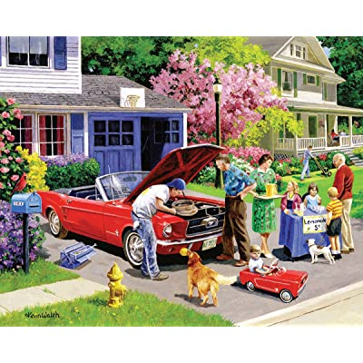 White Mountain Puzzles Ready for a Drive - 1000Piece Jigsaw Puzzle: Toys & Games