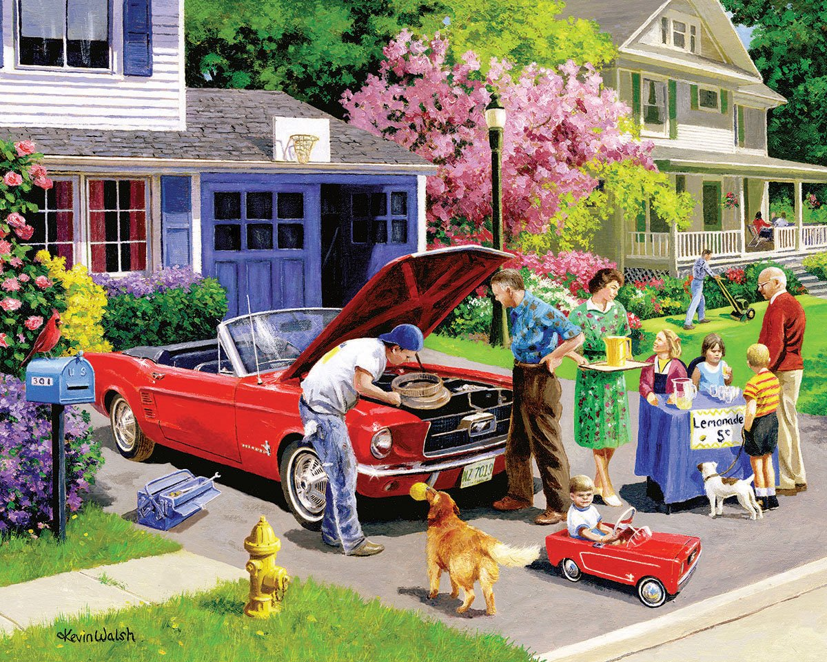 Weiß Mountain Puzzles Ready for a Drive - 1000 Piece Jigsaw Puzzle by Weiß Mountain Puzzles