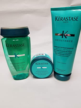 Amazon Com Kerastase Resistance Bain Extentioniste 8 5 Oz Fondant Extentioniste 6 8 Oz Masque Extentioniste 2 55 Oz Beauty