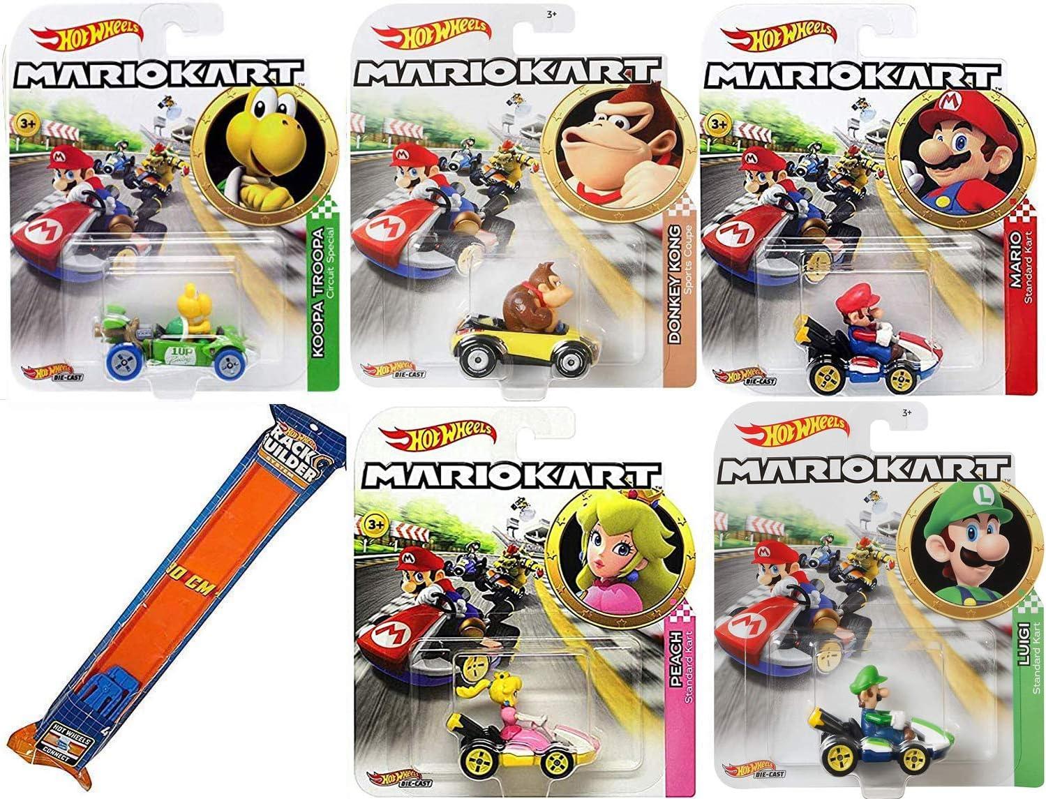 Amazon Com Hot Wheels Standard Kart Mario Luigi Character Car