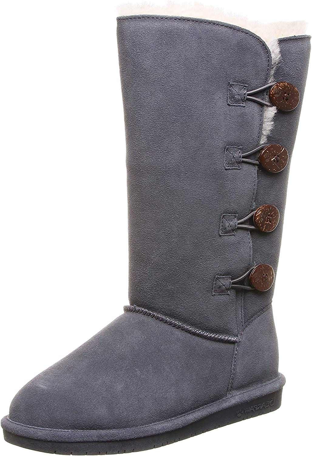 BEARPAW Women's Lori Boot, Charcoal Size 9