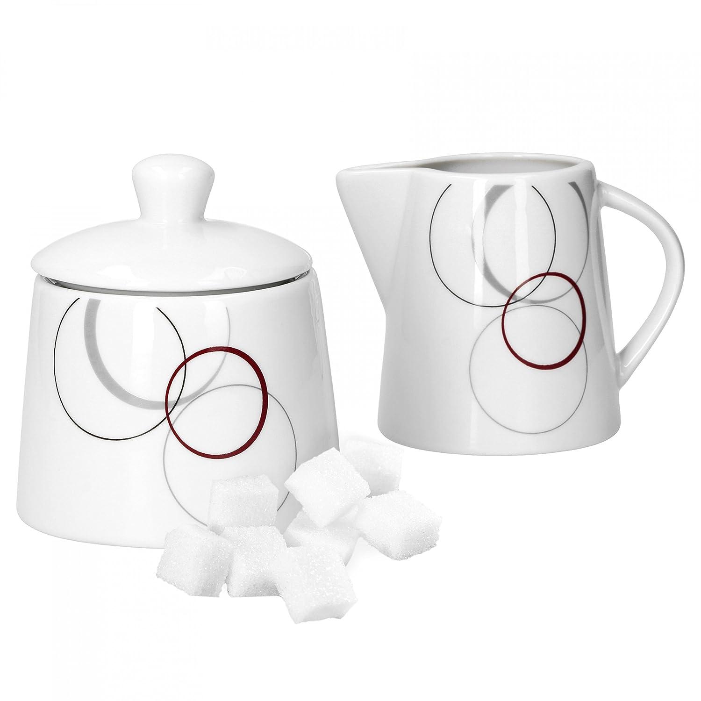 Caviano Set di 2 bricchi per il latte con zuccheriera da 26/cl 22/cl