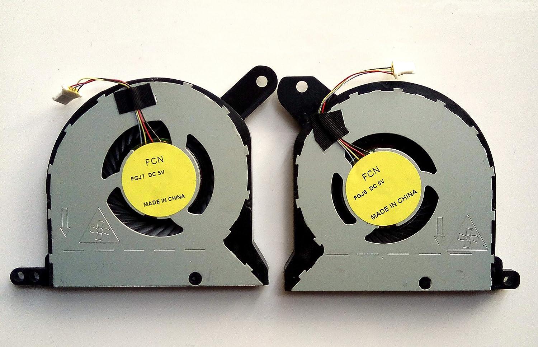 EJTONG New for Dell Alienware 13 R1 R2 FGJ6 FGJ7 CPU & GPU Cooling Fan Set DFS481105F20T