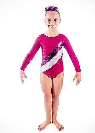 c07487b12996 Girls Ladies Gymnastics Leotard Gym/6 lycra with hologram and metallic foil  stripes (34