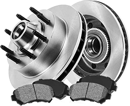 Front and Rear Brake Rotors /& Metallic Pads For FORD F250 F350 2WD ABS