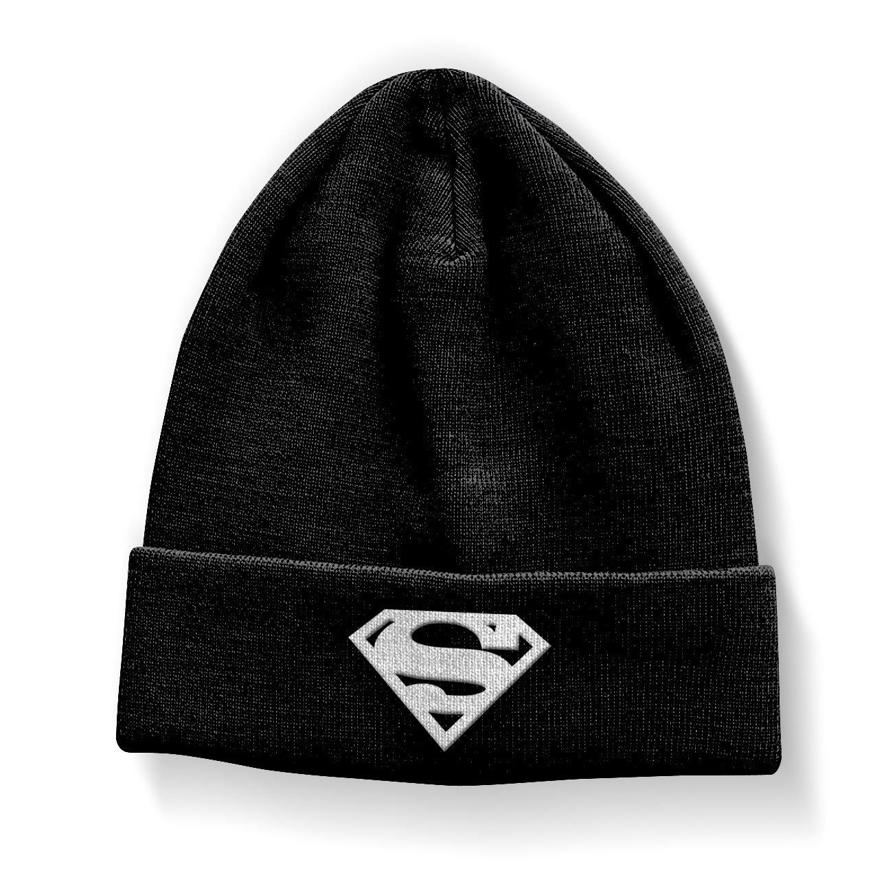 Amazon.com  Superman Beanie Hat Shield Official Black  Clothing b0dd8989973