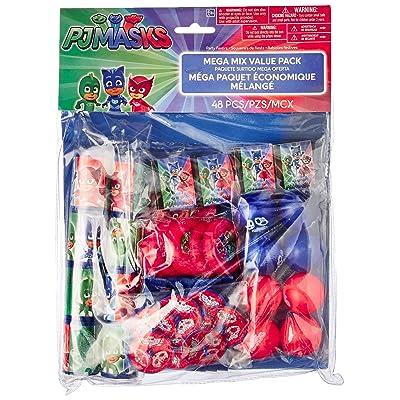"""amscan """"PJ Masks Mega Mix Value Pack Favors, Party Favor: Toys & Games"""