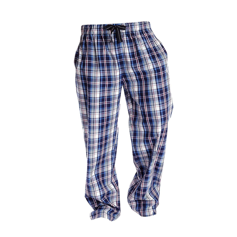 Universaltextilien Herren Lounge-Hose//Pyjama-Hose//Schlafanzughose Karo-Muster