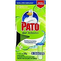 Desodorizador Sanitário Pato Gel Adesivo Refil Citrus 6 unidades