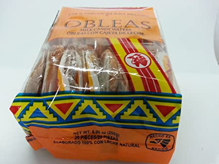 Amazon.com : Aldama Mini Obleas Con Cajeta (Milk Candy Waffles) 60 pcs : Grocery & Gourmet Food