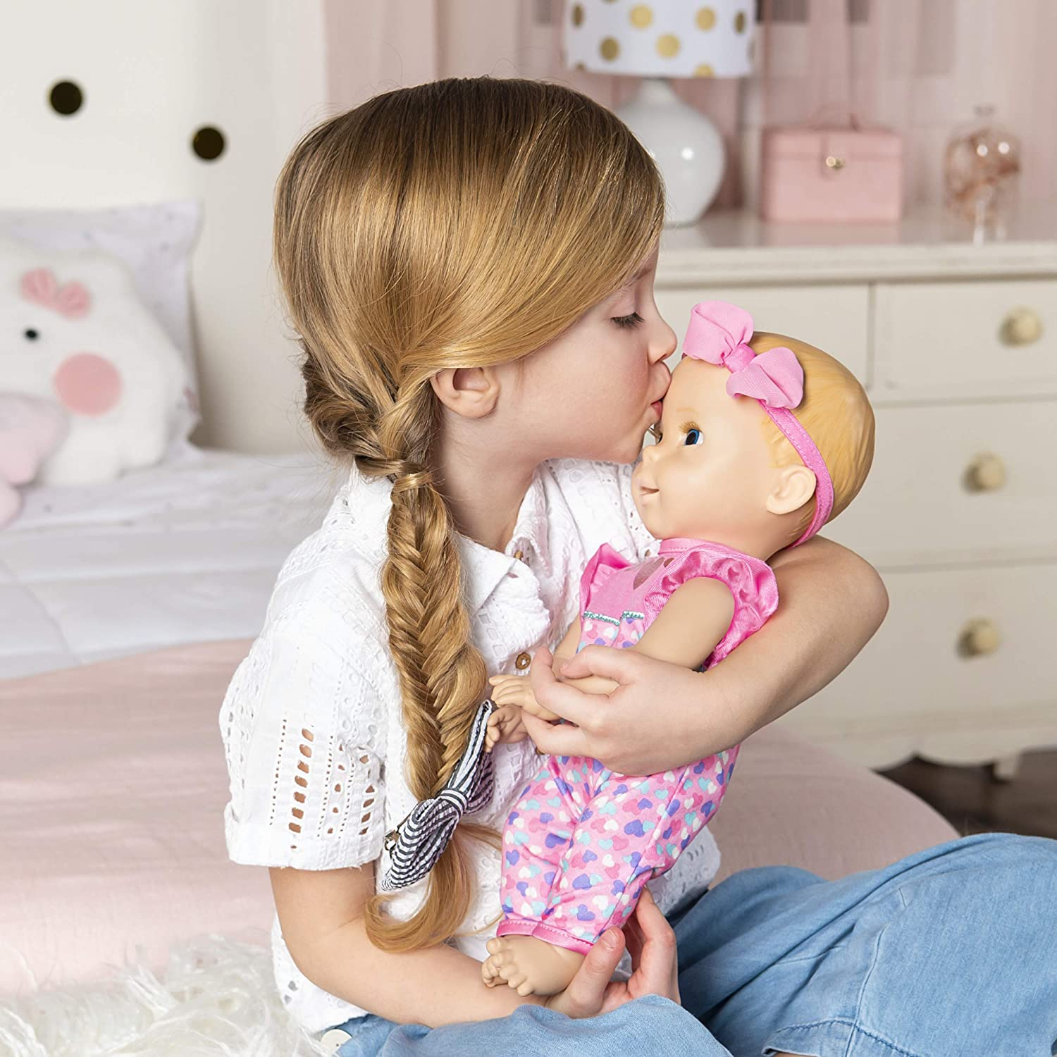 Blonde Hair Interactive Baby Doll with Real Expressions /& Movement Luvabella Newborn