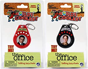 Worlds Coolest Toys The Office Talking Keychain Set 2 Pack Bundle - Dwight and Assorted