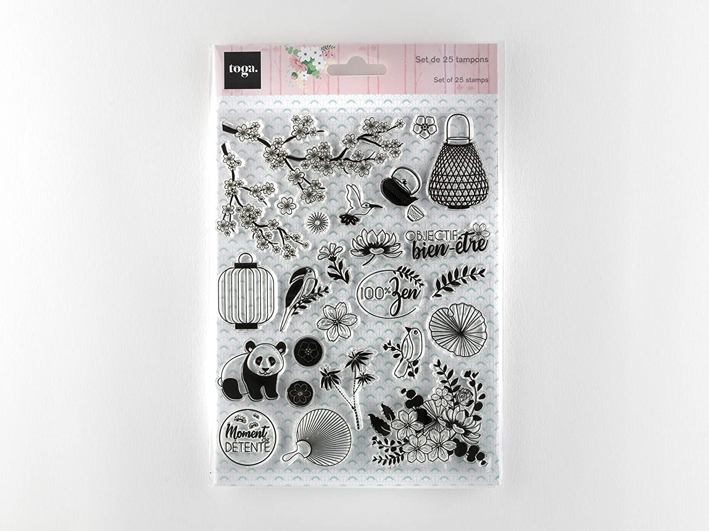 14 x 18 cm Toga Printemps /à Kyoto Tampon siliconne transparents