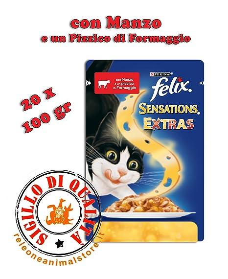 Felix Sensations Extras Alimento húmedo completo para gatos 20 x 100 g Cordero