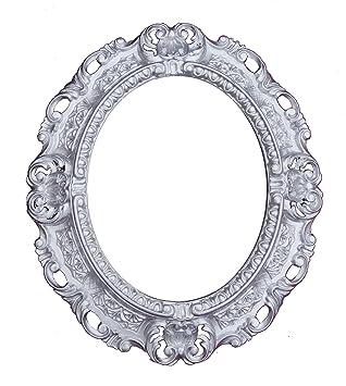 Wandspiegel Spiegel IN SILBER OVAL 45 x 38 cm BAROCK Antik REPRO Vintage 345 26*