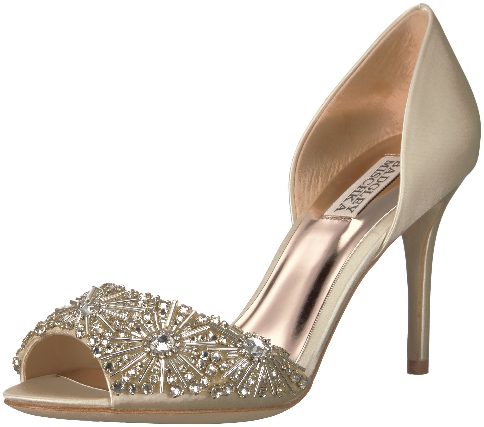 Badgley Mischka Women's Maria Pump, Ivory, 8 M US
