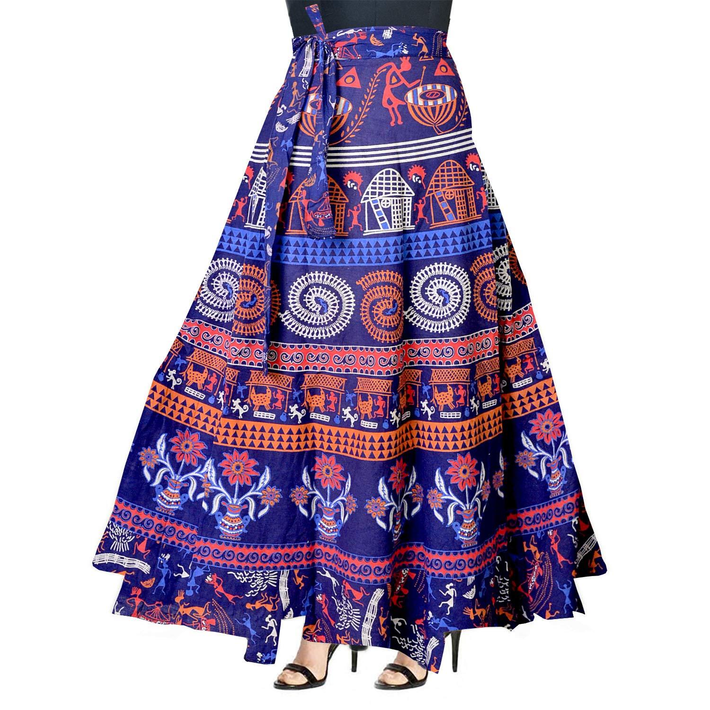 46622f832b Silver Organisation 100% Cotton WRAP Around Skirt at Amazon Women s Clothing  store