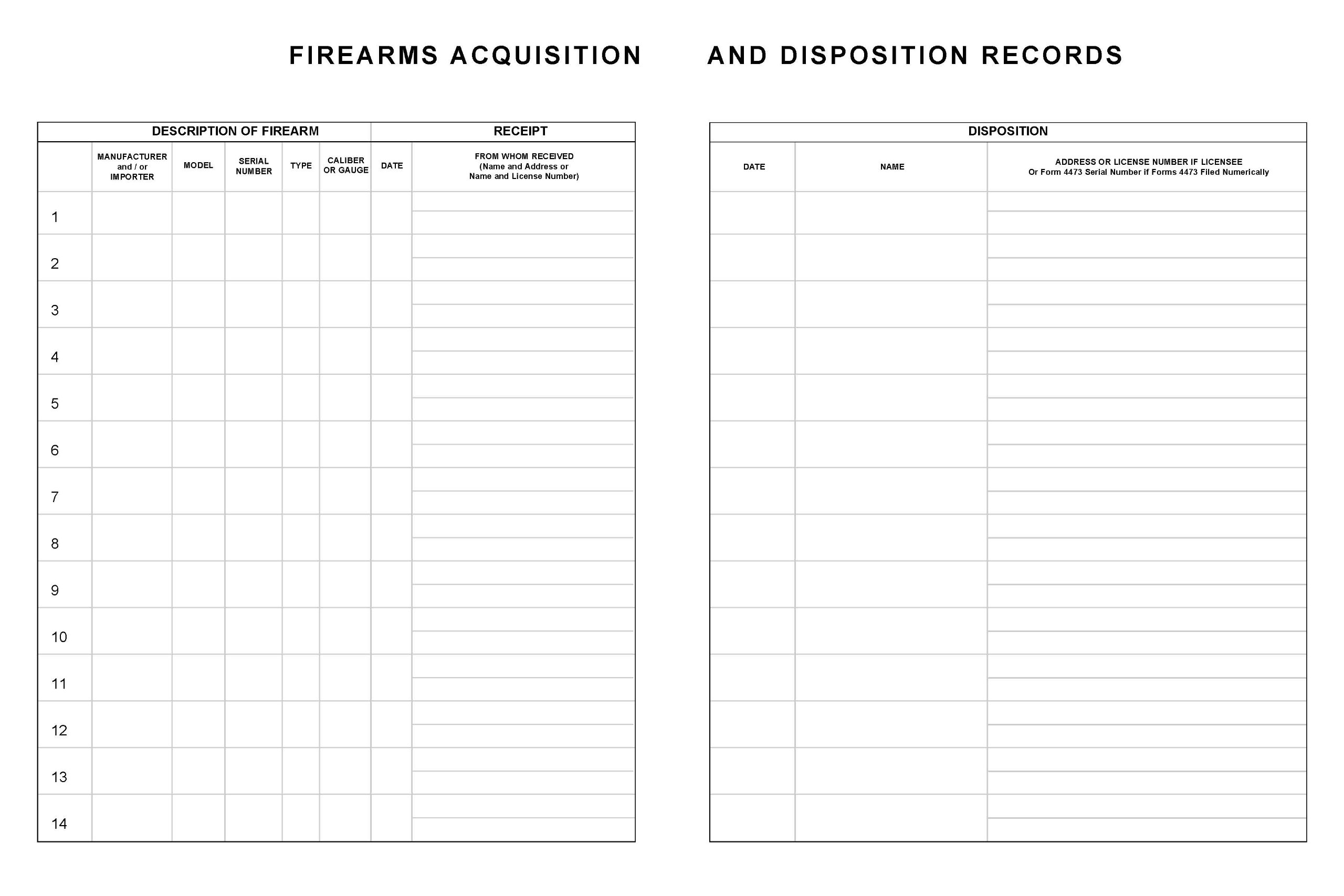 BookFactory Gun Log Book - 120 Pages, Black Cover, Smyth Sewn Hardbound, 8 7/8'' x 11 1/4'' (LOG-120-GUN-02-LKT35)