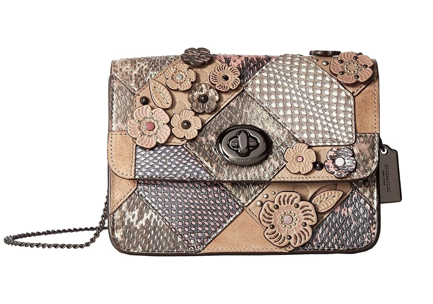 9ee8ddc415c4 COACH Women s Patchwork Snake Bowery Crossbody Dk Multicolor One Size   Handbags  Amazon.com