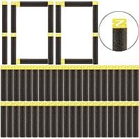 """Recambio de balas 100 dardos Peleustech paquete de recambio de suave Sustitución de la cabeza de dardos para dinamitero Nerf N-Strike, Negro, 2.8""""x0.5""""x0.5"""""""