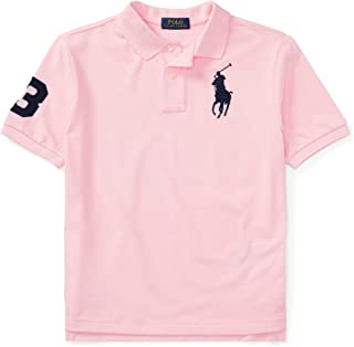 Ralph Lauren - Cotton Mesh Polo Shirt for 6 to 14 Years Old Boys - Carmel Pink