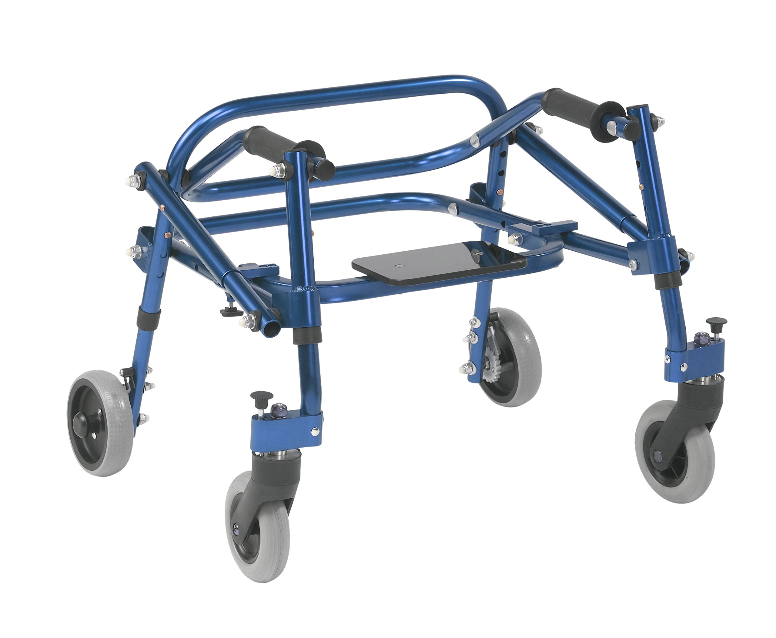 Inspired by Drive Nimbo 2G Lightweight Posterior Walker with Seat, Knight Blue, Extra Small