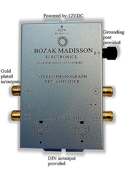 Bozak Madisson CLK-PH8 Phono Preamplificador Tocadiscos ...