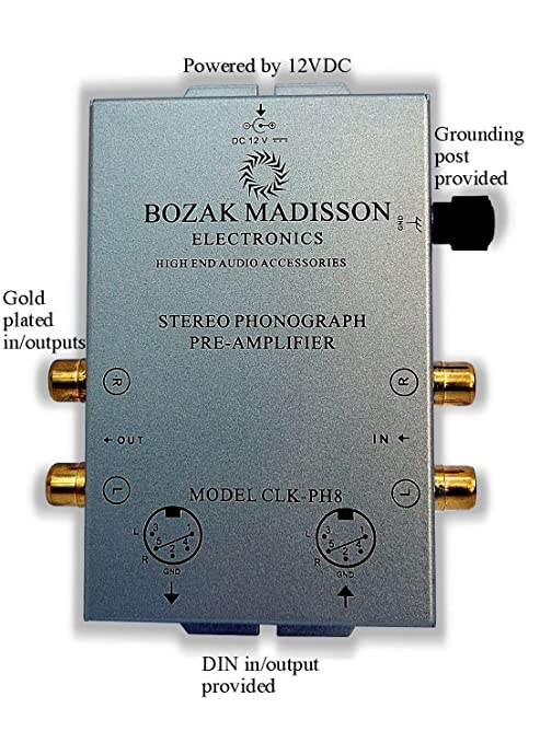 Amazon com: Bozak Madisson CLK-PH8 Phono Preamp Preamplifier
