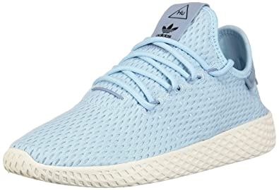 Adidas x Pharrell Williams Big Kids Tennis HU J blue icey blue footwear  white Size 3.5