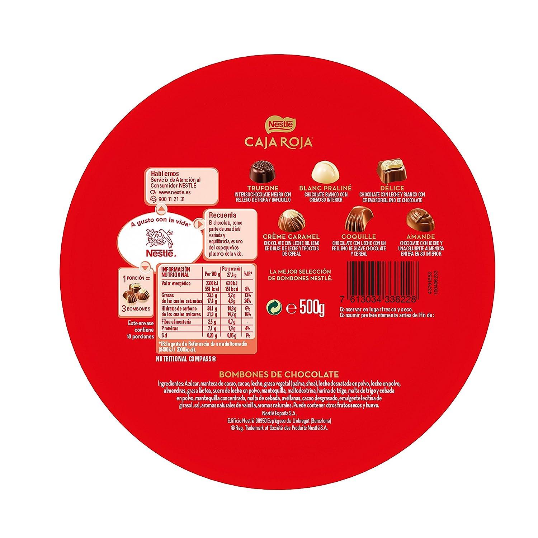 Nestlé Caja Roja - Bombones de Chocolate Surtidos - 500 g: Amazon.es: Alimentación y bebidas