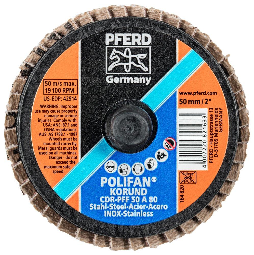 Pack of 10 19100 RPM 2 Diameter 80 Grit Type CDR PFERD 42914 Combidisc Quick Change Disc Aluminum Oxide