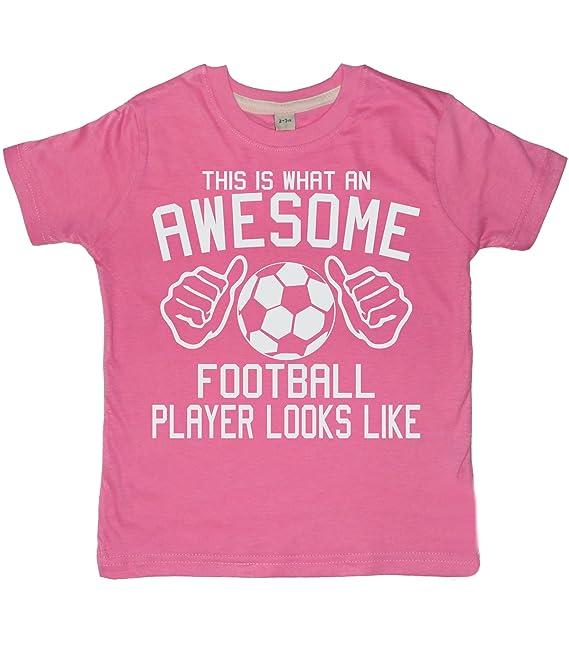 Edward Sinclair Este es una fantástica Looks Like Jugador de fútbol Camiseta para niña Color Rosa