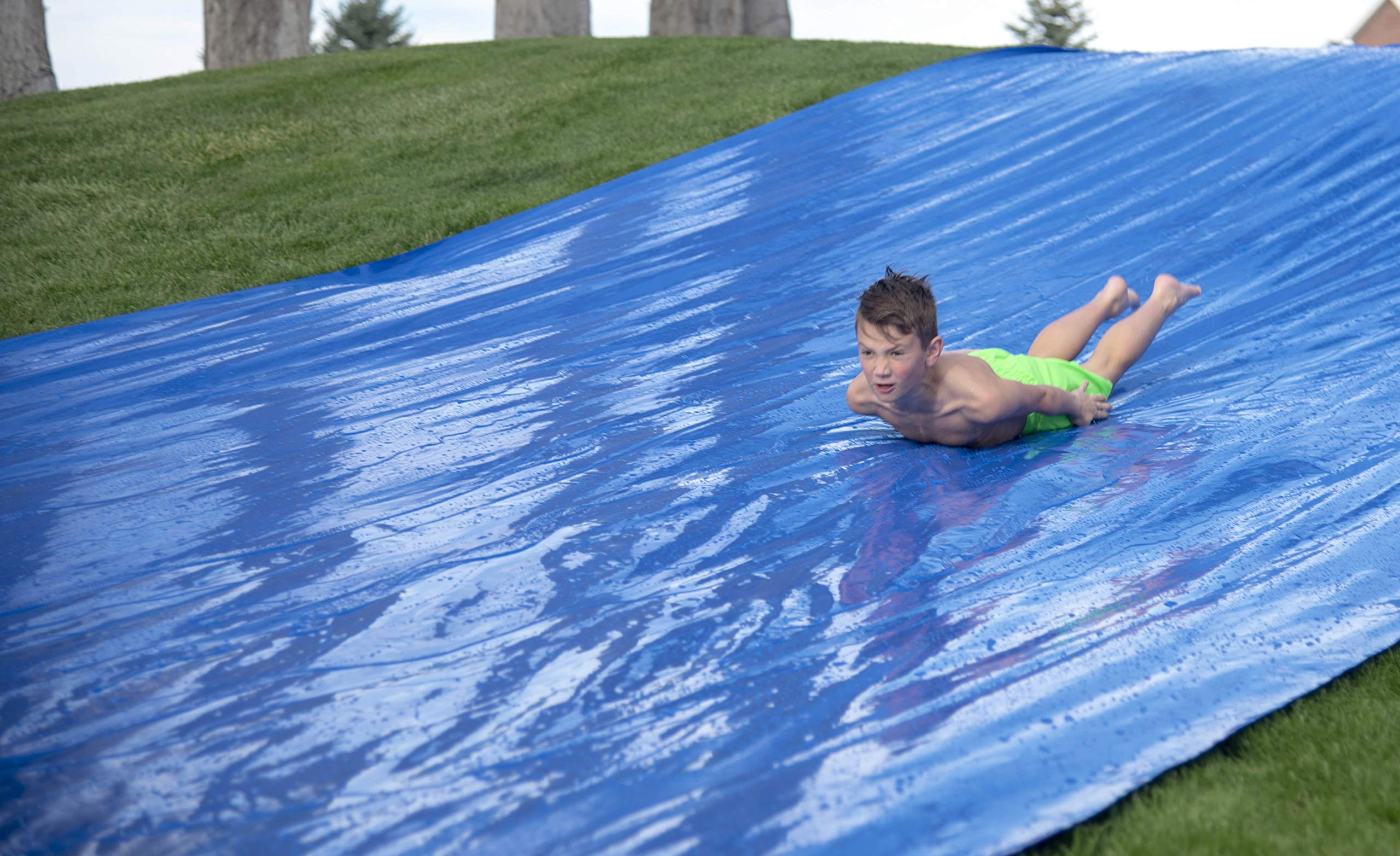 Squirrel Products Big Freaking Waterslide 75' x 12'- The Big One- Easy to Setup - No Exposed Stakes with Patented Concealed Connectors - Extra Thick to Prevent Rips & Tears by Squirrel Products (Image #5)