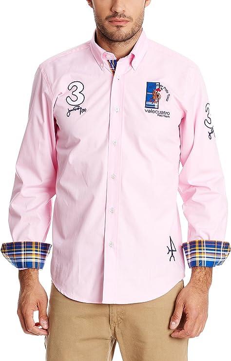 Valecuatro Camisa Hombre Rosa 2XL: Amazon.es: Ropa y accesorios