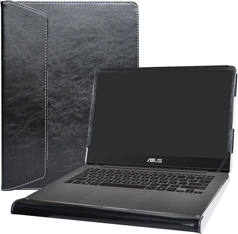 """Alapmk Protective Case Cover For 14"""" Asus ZenBook UX430UA UX430UN UX410UA UX410UQ & ASUS VivoBook S14 S430UN Series Laptop(Warning:Not fit ZenBook 3 UX490UA & VivoBook S410UN ),Black"""