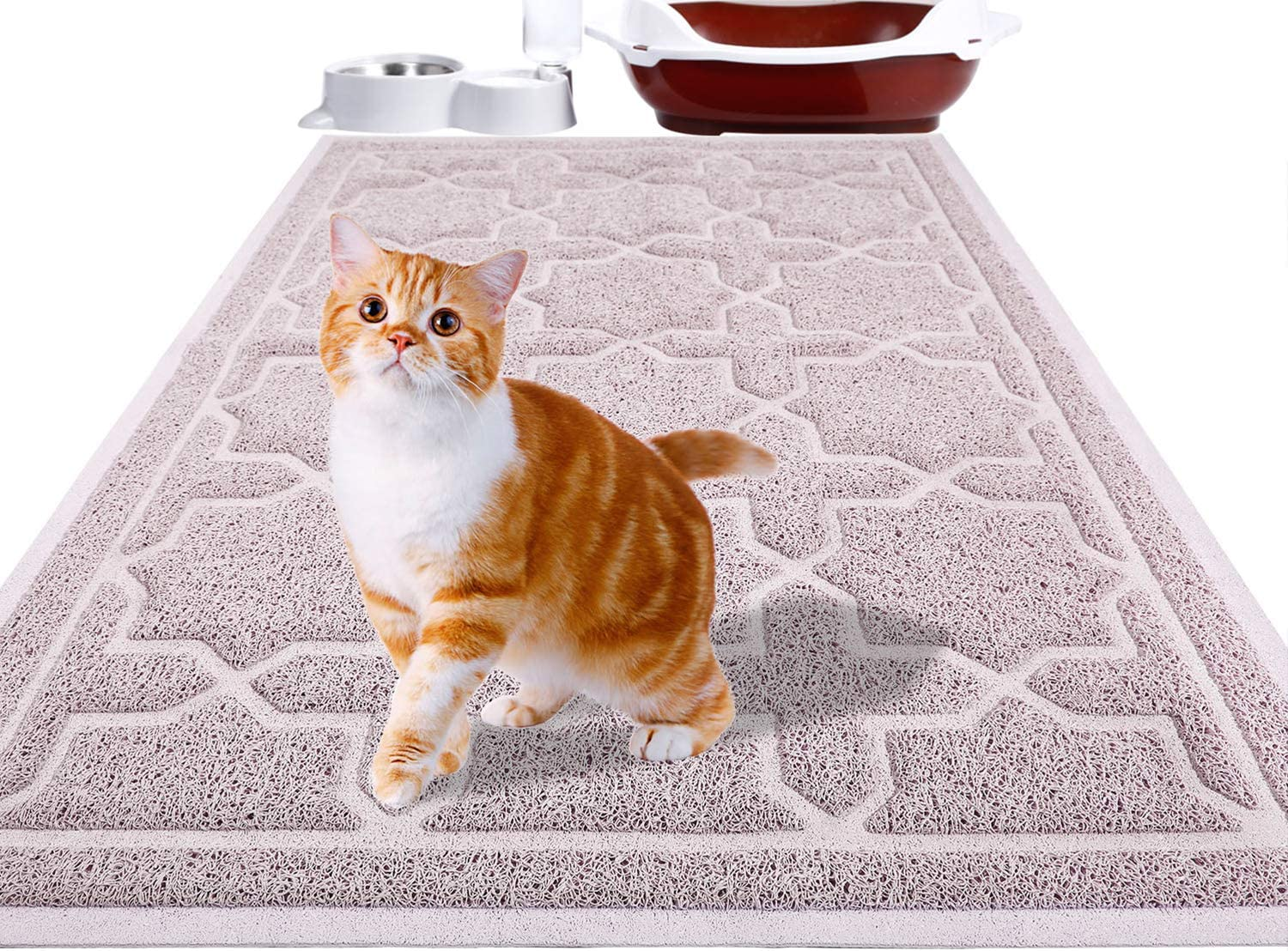 Yimobra Durable Cat Litter Mat, XL Jumbo 35.4 x 23.6 Inches, Easy Clean Cat Mats, Non-Slip, Water Resistant, Traps for Litter Boxes, Pet Litter Floor Mats, Soft, No Phthalate
