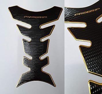 Tankpad Tankschutz Motorrad Carbon Optik Gold Schwarz Universal Auto