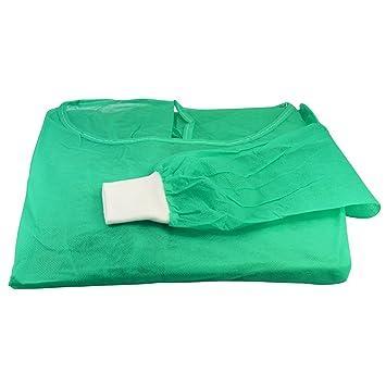 5 x Noba Visitantes Bata verde tela no tejida: Amazon.es: Salud y cuidado personal
