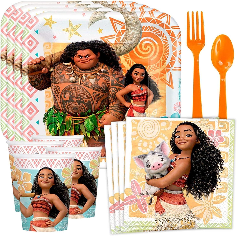 Costume SuperCenter Moana Standard Tableware Kit Serves 8