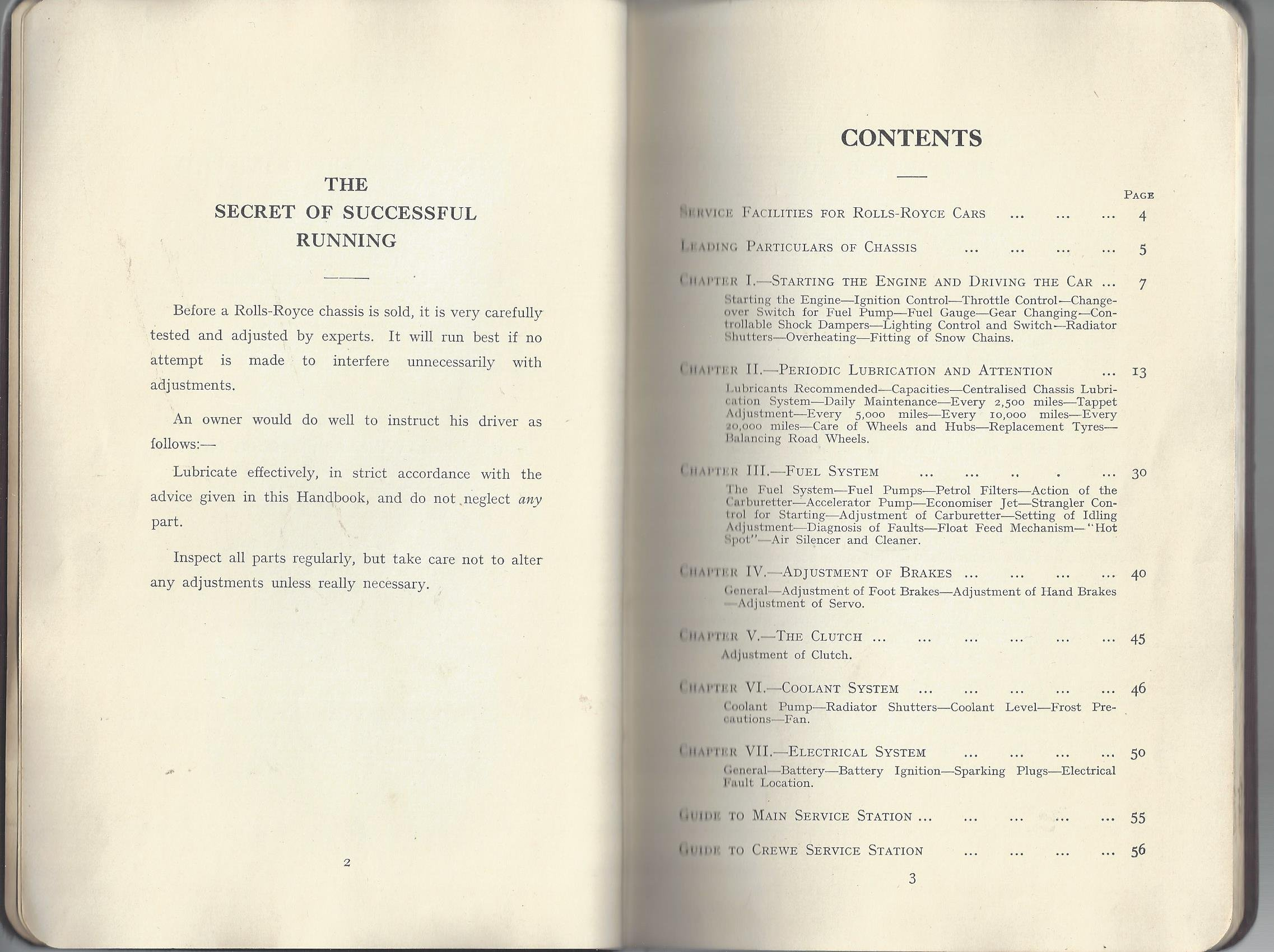 Circa 1936 Handbook For 25 30 Hp Rolls Royce Car Condensed Edition Fuel Pump No Xvii Limited Books
